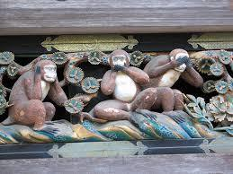 """日光東照宮の三猿「見ざる、言わざる、聞かざる」 これが""""ぶれない信念""""を作るひとつのコツだと存じます。"""