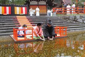 京の流しびな 下鴨神社の風景