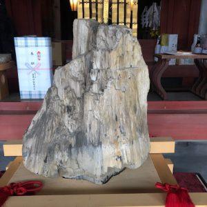 拝殿の隣で、黒田官兵衛を祀る「官兵衛神社」の建設がなされてました。11月に完成予定で、それまでの間、ご神木が祀られてます。 この ご神木写真も世の人々に勧めてくれ!とのことで・・恐れ多くも・・幸福波動をお裾分けします。 皆様も 寺社参拝の時、こういう特別な瞬間に立ち会うことができれば、そこの神仏が歓迎されてると解釈してもよいかと存じます。